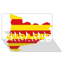 Flag Map Of Catalonia Engaged 3d Greeting Card (8x4) by abbeyz71