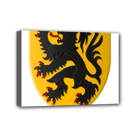 Flanders Coat Of Arms  Mini Canvas 7  X 5  by abbeyz71