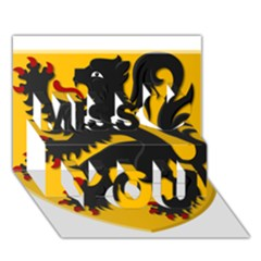 Flanders Coat Of Arms  Miss You 3d Greeting Card (7x5)