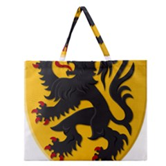 Flanders Coat of Arms  Zipper Large Tote Bag by abbeyz71