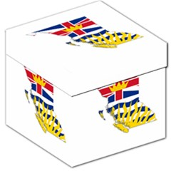 Flag Map Of British Columbia Storage Stool 12   by abbeyz71