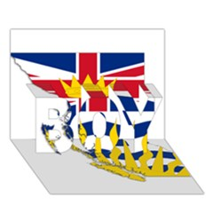 Flag Map Of British Columbia Boy 3d Greeting Card (7x5) by abbeyz71
