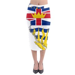 Flag Map Of British Columbia Midi Pencil Skirt