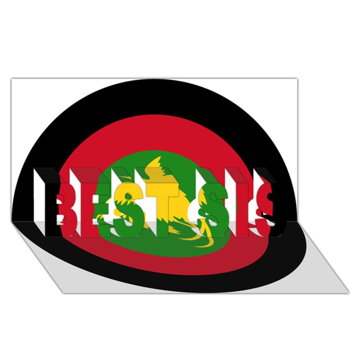 Roundel of Papua New Guinea Air Operations Element BEST SIS 3D Greeting Card (8x4)
