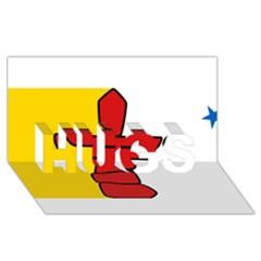 Flag Of Nunavut  Hugs 3d Greeting Card (8x4) by abbeyz71
