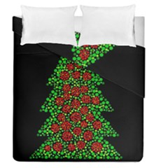Sparkling Christmas Tree Duvet Cover Double Side (queen Size) by Valentinaart