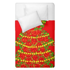 Sparkling Christmas Tree   Red Duvet Cover Double Side (single Size) by Valentinaart