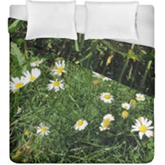 Wild Daisy summer Flowers Duvet Cover Double Side (King Size) by picsaspassion