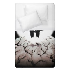 The World Comes Crashing Down Duvet Cover (single Size) by lvbart