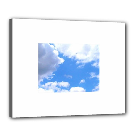 Summer Clouds And Blue Sky Canvas 20  X 16  by picsaspassion