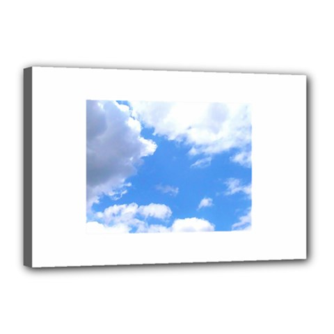 Summer Clouds And Blue Sky Canvas 18  X 12  by picsaspassion