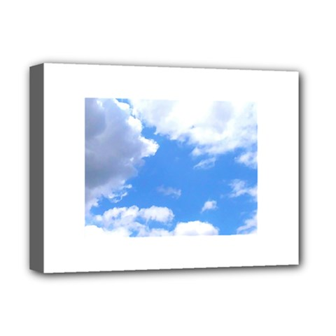 Summer Clouds And Blue Sky Deluxe Canvas 16  X 12   by picsaspassion