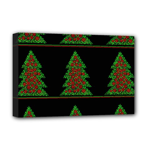 Christmas Trees Pattern Deluxe Canvas 18  X 12   by Valentinaart