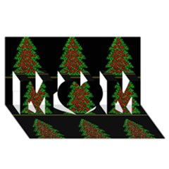 Christmas Trees Pattern Mom 3d Greeting Card (8x4) by Valentinaart