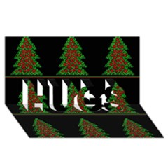 Christmas Trees Pattern Hugs 3d Greeting Card (8x4) by Valentinaart