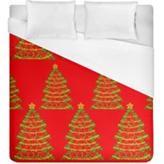 Christmas trees red pattern Duvet Cover (King Size) by Valentinaart