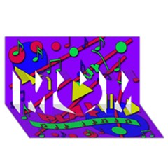 Music 2 Mom 3d Greeting Card (8x4) by Valentinaart