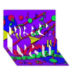 Music 2 Miss You 3d Greeting Card (7x5)