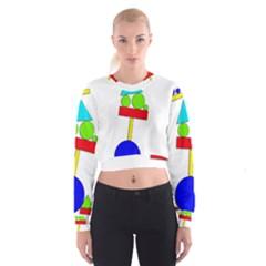 Balance  Women s Cropped Sweatshirt by Valentinaart