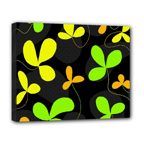 Floral Design Deluxe Canvas 20  X 16   by Valentinaart