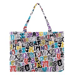 Alpha Pattern Medium Tote Bag