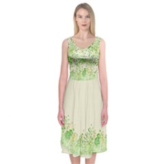 Natural Midi Sleeveless Dress by Contest2483978