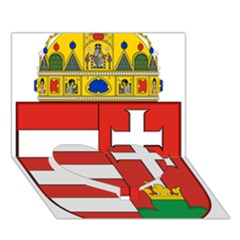 Medieval Coat Of Arms Of Hungary  Heart Bottom 3d Greeting Card (7x5)