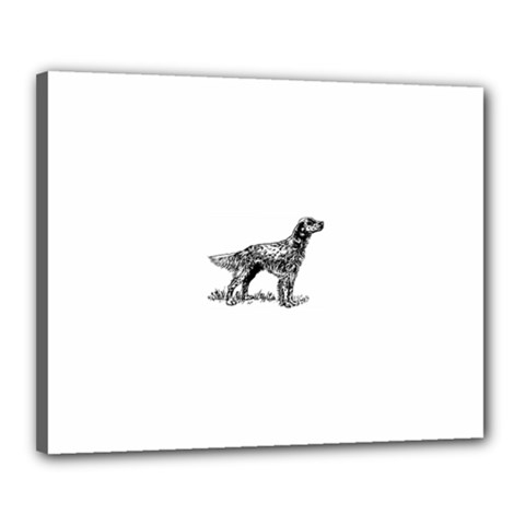 English Setter Drawing Canvas 20  x 16  by TailWags