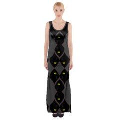 Holistic Wine Maxi Thigh Split Dress by MRTACPANS