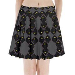 Holistic Wine Pleated Mini Skirt by MRTACPANS