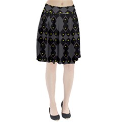 Holistic Wine Pleated Skirt by MRTACPANS