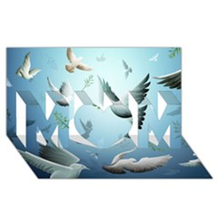 Animated Nature Wallpaper Animated Bird Mom 3d Greeting Card (8x4) by AnjaniArt