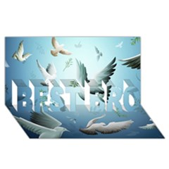 Animated Nature Wallpaper Animated Bird BEST BRO 3D Greeting Card (8x4) by AnjaniArt