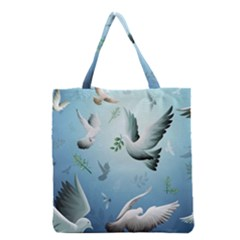 Animated Nature Wallpaper Animated Bird Grocery Tote Bag