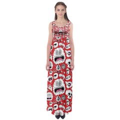 Another Monster Pattern Empire Waist Maxi Dress by AnjaniArt