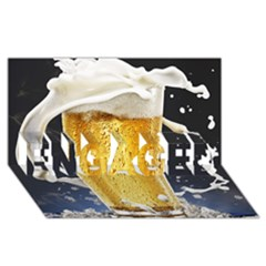 Beer 1 Engaged 3d Greeting Card (8x4) by AnjaniArt