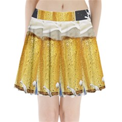 Beer 1 Pleated Mini Skirt by AnjaniArt