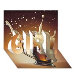 Beer Wallpaper Girl 3d Greeting Card (7x5)