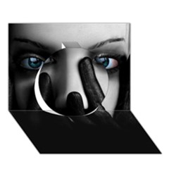 Black And White Circle 3d Greeting Card (7x5)