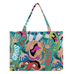 Cartoons Funny Face Patten Medium Tote Bag