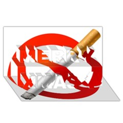 Cigarette Merry Xmas 3d Greeting Card (8x4)
