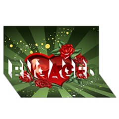Cool Boy Wallpaper Engaged 3d Greeting Card (8x4) by AnjaniArt
