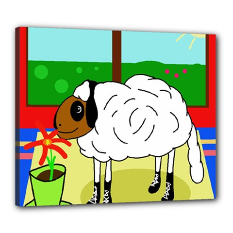 Urban Sheep Canvas 24  X 20  by Valentinaart