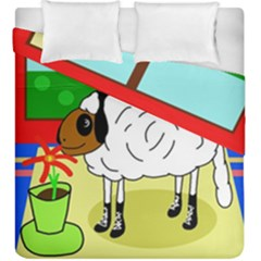 Urban sheep Duvet Cover Double Side (King Size) by Valentinaart