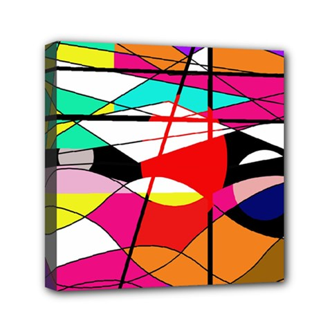 Abstract waves Mini Canvas 6  x 6  by Valentinaart