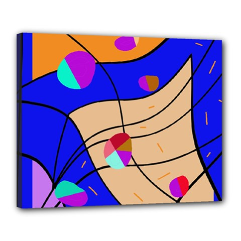 Decorative Abstract Art Canvas 20  X 16  by Valentinaart
