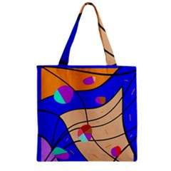 Decorative abstract art Zipper Grocery Tote Bag by Valentinaart