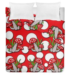 Mushrooms Pattern Duvet Cover Double Side (queen Size) by Valentinaart