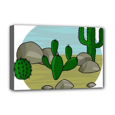Desert Deluxe Canvas 18  X 12   by Valentinaart
