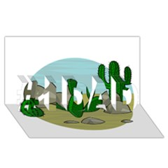 Desert #1 Dad 3d Greeting Card (8x4)